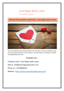 Effective Reconciliation Spell USA | Love Magic Spells Caster