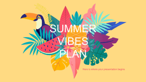 Summer Vibes Marketing Plan by Slidesgo