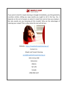 Best Carpet Cleaning In Edmonton  Maple Leaf Carpet Cleaning
