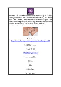 Mikrodermabrasion in Zürich  Beautybycris.ch