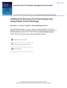 A Method for Removal of CO from Exhaust Gas Using Pulsed Corona Discharge