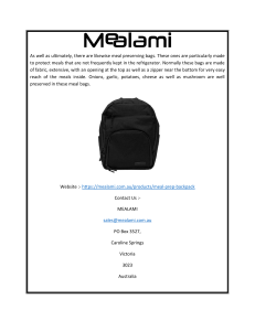 Mealami Unisex Meal Prep Camo Backpack at Fair Price