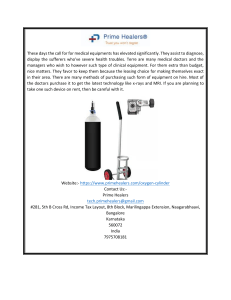 Oxygen Cylinder For Rent In Bangalore