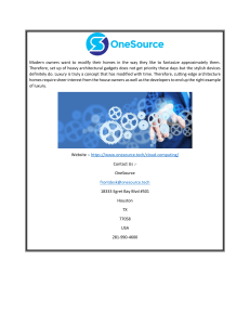 Cloud Services Houston Onesource.tech