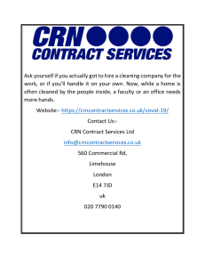 Office Deep Cleaning Services In Kent  Crncontractservices.co.uk