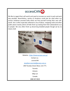 Accessibility Ontario Access-can.ca