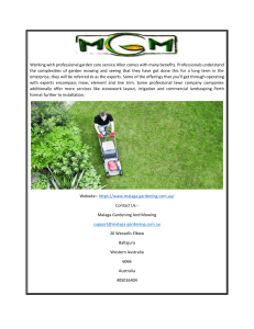 Gardening & Lawn Mowing Services in Perth, Wa