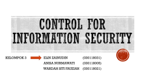 CONTROL FOR INFORMATION SECURITY