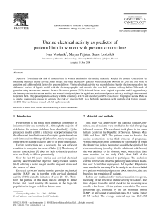 Uterine electrical activity as predictor