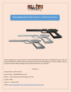 Shop Blemished 1911 Frame | Hell Fire Armory
