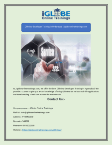 Qlikview Developer Training in Hyderabad | Iglobeonlinetrainings.com