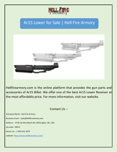 Ar15 Lower for Sale | Hell Fire Armory