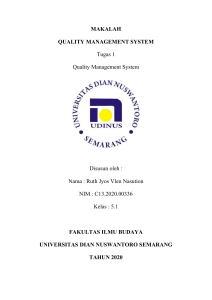 MAKALAH QUALITY MANAGEMENT SYSTEM