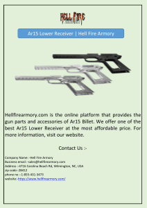 Ar15 Lower Receiver | Hell Fire Armory