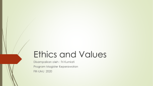 Ethics and Values (1)