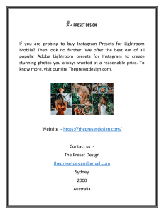 Buy Adobe Lightroom Mobile Presets  The Preset Design (1)
