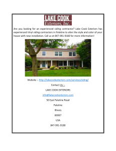 Experienced Vinyl Siding Contractor in Palatine