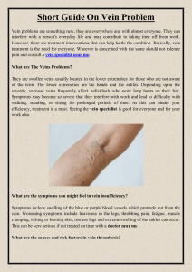 Short Guide On Vein Problem