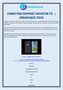 Computer Support Houston TX   Onesource.tech