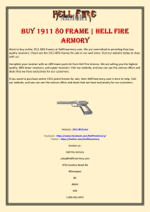 Buy 1911 80 Frame  Hell Fire Armory