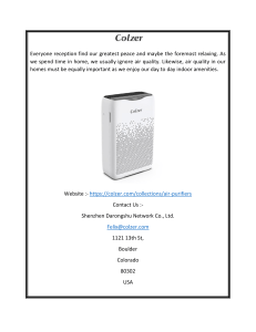 Air Purifier For Large Room USA  Colzer