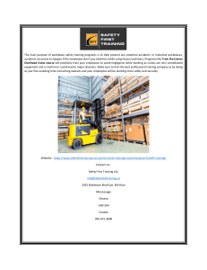 Best Forklift Training Courses in Toronto (1)