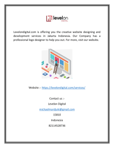 Website Development Indonesia  Levelondigital.com