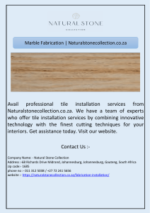 Marble Fabrication | Naturalstonecollection.co.za