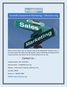 Scientific Equipment Marketing | Lifescicon.org