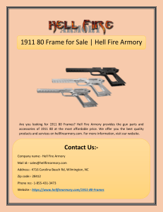 1911 80 Frame for Sale | Hell Fire Armory