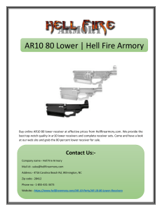 AR10 80 Lower | Hell Fire Armory
