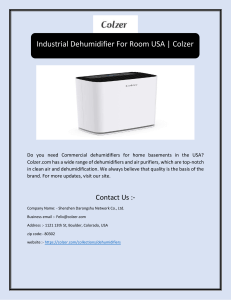 Industrial Dehumidifier For Room USA | Colzer