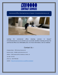 Commercial Office Cleaning Services in Sussex