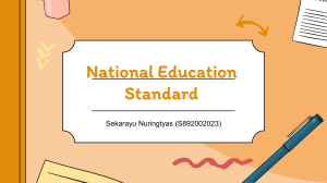 National Education Standard