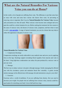 What are the Natural Remedies For Varicose Veins you can do at Home