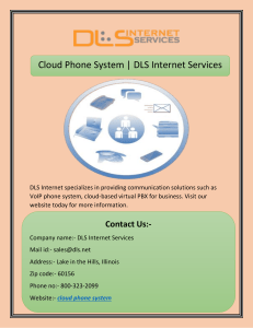 Cloud Phone System | DLS Internet Services