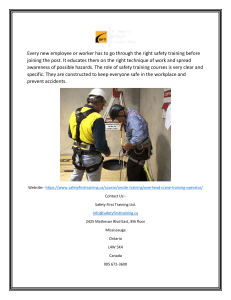 Get Overhead Crane Training Operator Certification