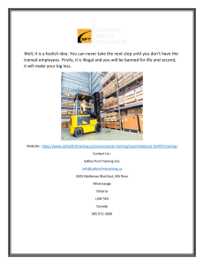 Best Forklift Training Courses in Toronto