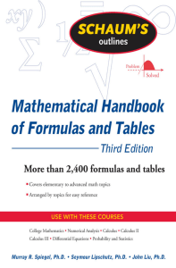 Schaum's Outline of Mathematical Handbook of Formulas and Tables, 3ed (Schaum's Outline Series) ( PDFDrive )-1