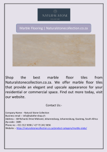 Marble Flooring | Naturalstonecollection.co.za
