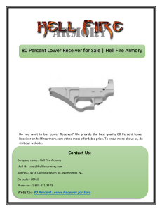 80 Percent Lower Receiver for Sale | Hell Fire Armory