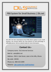 PBX System for Small Business | Dls.net