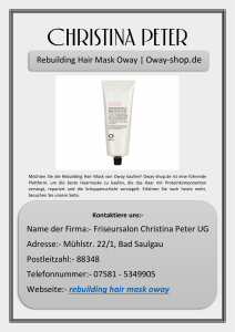 Rebuilding Hair Mask Oway | Oway-shop.de