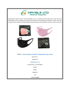 The Smart Mask Shop UK  Nayble.co.uk