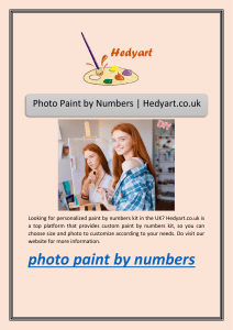 Photo Paint by Numbers | Hedyart.co.uk