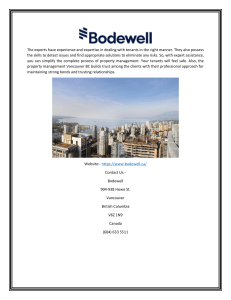 Property Management Companies in Vancouver  Bodewell