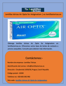 Lentillas tóricas Air Optix for Astigmatism  en lentillastoricas.es